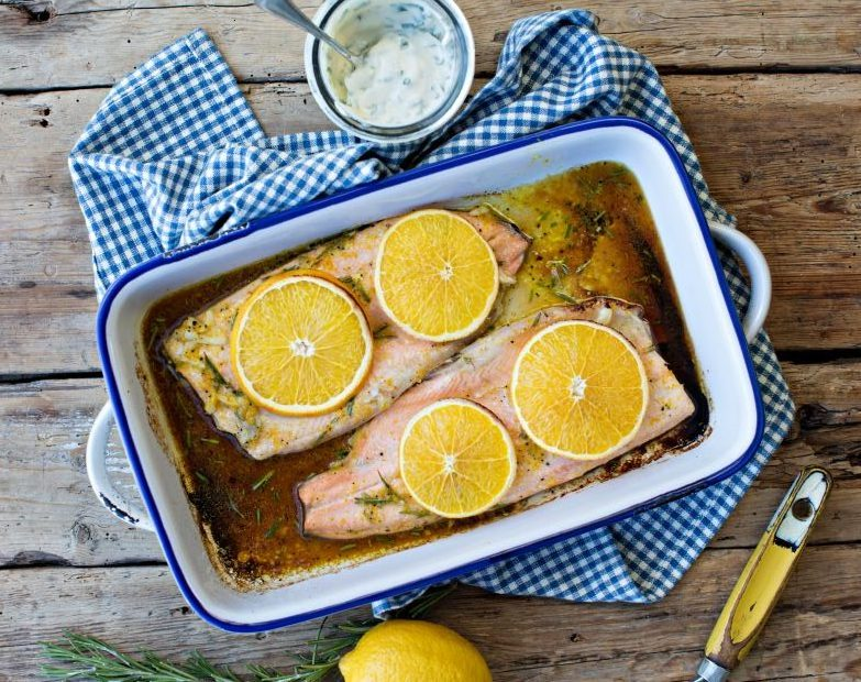 Roasted Trout with Orange and Rosemary